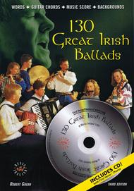 Sheet Music 130 Great Irish Ballads Song Lyrics Guitar Tabs Piano Music Notes Songbook