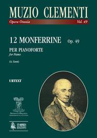 Muzio Clementi  Sheet Music 12 Monferrine Op. 49 Song Lyrics Guitar Tabs Piano Music Notes Songbook