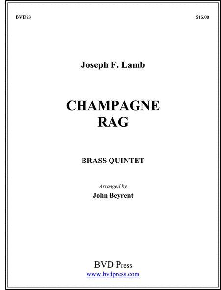 Sheet music: Champagne Rag (Brass Quintet: 2 trumpets, horn