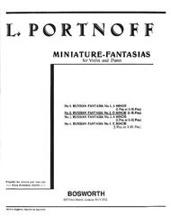 Russian Fantasia No. 2 in D Minor by Leo Portnoff sheet music