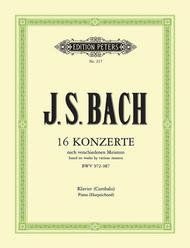 Johann Sebastian Bach  Sheet Music 16 Concerti after Other Composers Song Lyrics Guitar Tabs Piano Music Notes Songbook