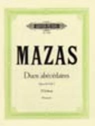 Jacques-Fereol Mazas  Sheet Music 10 Duos abecedaires Op. 85 Vol. I Song Lyrics Guitar Tabs Piano Music Notes Songbook