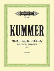 Friedrich August Kummer  Sheet Music 10 Melodious Exercises Op. 57 Song Lyrics Guitar Tabs Piano Music Notes Songbook