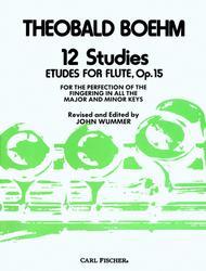 Theobald Boehm  Sheet Music 12 Studies Song Lyrics Guitar Tabs Piano Music Notes Songbook