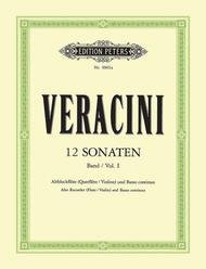Francesco Maria Veracini  Sheet Music 12 Sonaten Song Lyrics Guitar Tabs Piano Music Notes Songbook
