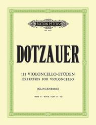 Justus Johann Friedrich Dotzauer  Sheet Music 113 Exercises Vol. 2 (Nos. 35-62) Song Lyrics Guitar Tabs Piano Music Notes Songbook