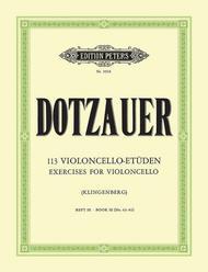 Justus Johann Friedrich Dotzauer  Sheet Music 113 Exercises Vol. 3 (Nos. 63-85) Song Lyrics Guitar Tabs Piano Music Notes Songbook