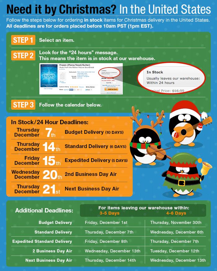 Christmas Deadlines - US