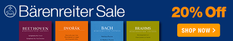 Baerenreiter Verlag Sale - 20% off distinguished urtext editions!