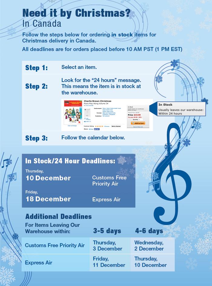 Christmas Deadlines - Canada