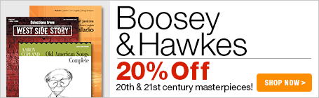 Boosey & Hawkes Sale - 20% off modern & contemporary masterpieces!