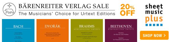 20% Off of Bärenreiter Verlag on Sheet Music Plus