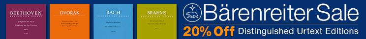 Bärenreiter Verlag Sale - 20% off fine urtext editions for choir, piano, and more!
