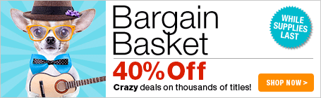 Bargain Basket Sale - 40% Off crazy deals of thousands of sheet music titles!