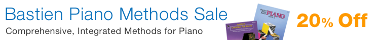 Bastien Piano Methods Sale - 20% off innovative piano methods for all ages!