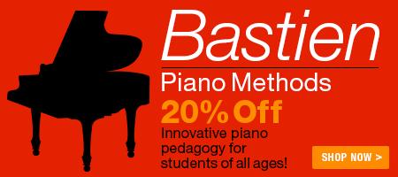 Bastien Piano Methods Sale - 20% off Bastien piano methods!