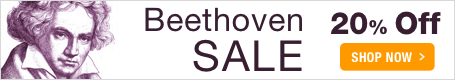 Beethoven Music Sale - celebrate 250 years with 20% off Beethoven sheet music!