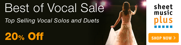 20% Off of the Best of Vocal Music on Sheet Music Plus