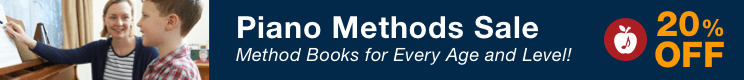 Piano Methods Sale - 20% Off Piano Method Books