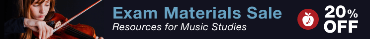 Exam Materials Sale - 20% off resources for music studies and assessments!
