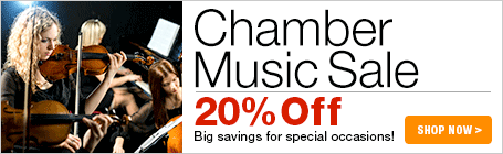 Chamber Music Sale - 20% off string quartets, piano trios, brass quintets, woodwind quintets and more!