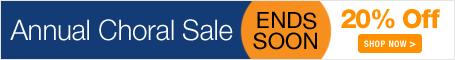 Annual Choral Sale - save 20% on sheet music for church choir, school chorus, and community choir!
