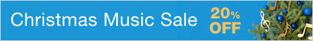 Christmas Music Sale - save 20% on top-selling sheet music for Christmas and the holidays!