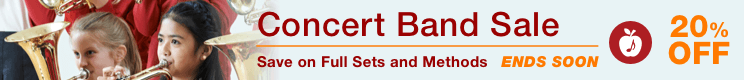 Concert Band Sale - 20% off concert band full sets and methods!
