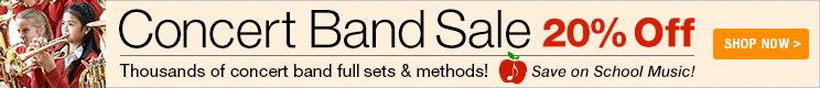 Concert Band Sale - 20% off concert band sets and method books
