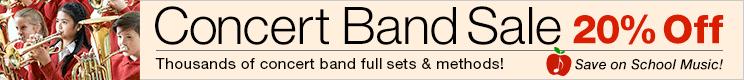 Concert Band Sale