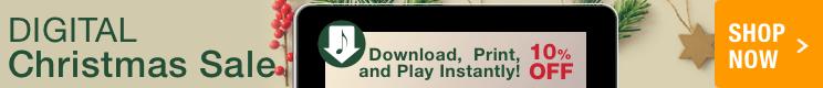 10% Off Christmas sheet music downloads!