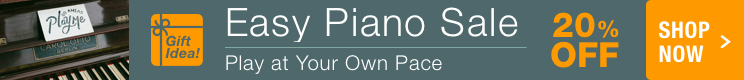 20% Off Easy Piano Music