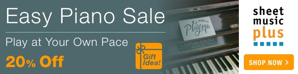 20% Off of Easy Piano Music on Sheet Music Plus