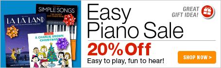 Easy Piano Sale