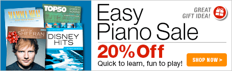 Easy Piano Sale - 20% off sheet music that's easy to learn and fun to play!