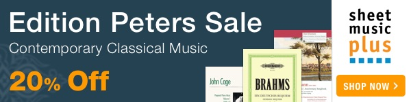 20% Off of Edition Peters on Sheet Music Plus