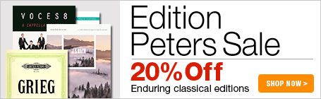 Edition Peters Sale - 20% off classical and contemporary sheet music for piano, choir, and more!