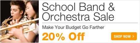 School Band & Orchestra Sale - 20% off concert band orchestra, and marching band sheet music!