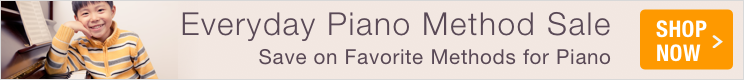 Everyday Piano Method Sale - 5% off piano method books and piano tutor books every day!