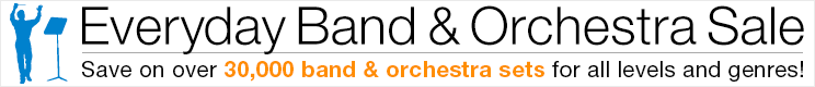 Save 5% on band & orchestra sets!