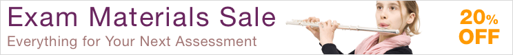 20% Off Exam Materials Sale - save 20% on resources for music studies and assessments!