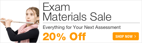 Exam Materials Sale - save 20% on resources for music exams and assessments!