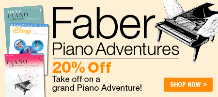 Faber Piano Adventure Sale - Save 20% on Faber piano method books!