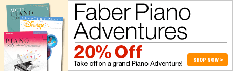 Faber Piano Adventures Sale - Save 20% on piano method books!