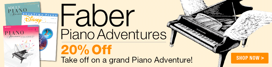 Faber Piano Adventures Sale - Save 20% on Faber piano method books!
