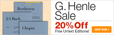 G. Henle Sale - 20% off urtext editions of classical masterpieces!