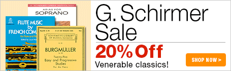 G. Schirmer Sale - 20% off favorite classical sheet music editions!