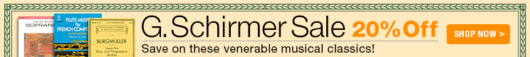 20% Off G. Schirmer Music