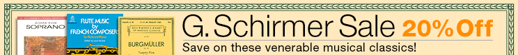 20% Off G. Schirmer Music!