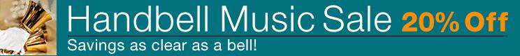 Handbell Music Sale - 20% off handbell scores